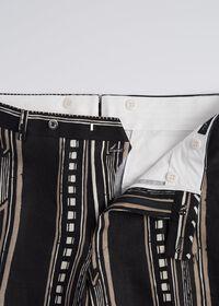 Linen Exotic Stripe Pant, thumbnail 3