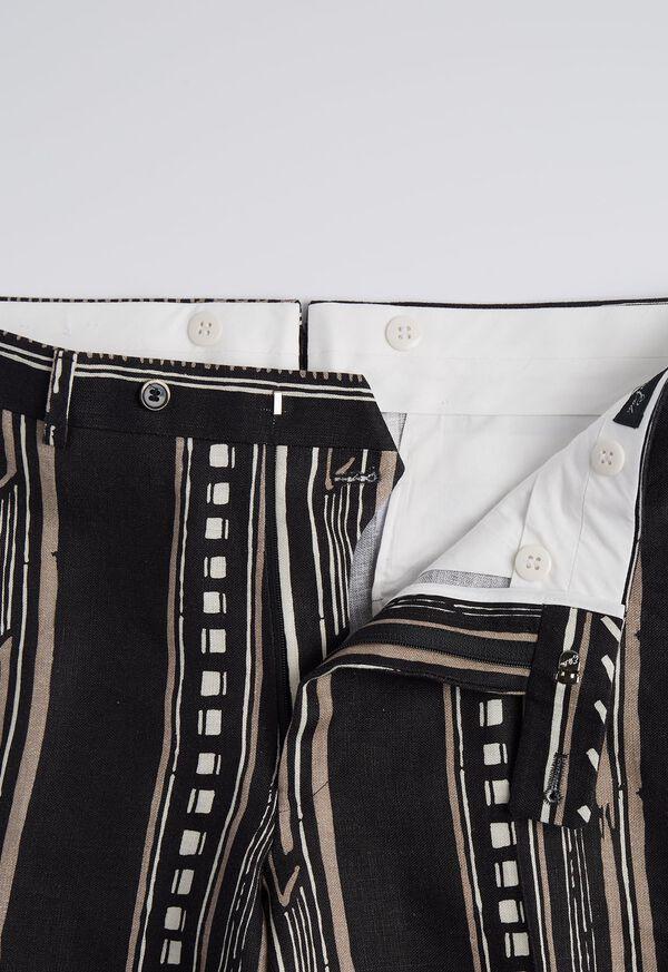 Linen Exotic Stripe Pant, image 3