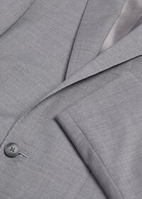 Light Grey Mini Houndstooth Wool Blend suit, thumbnail 2