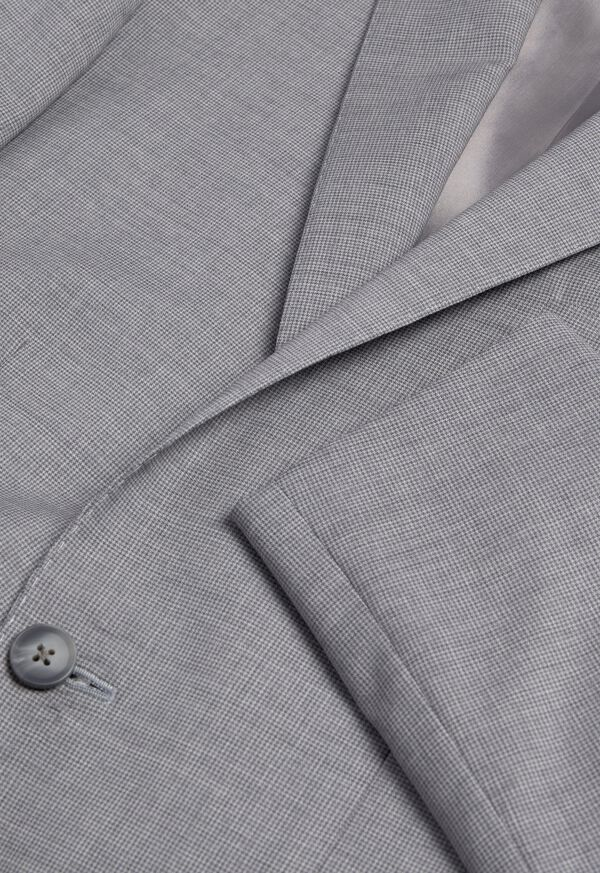 Light Grey Mini Houndstooth Wool Blend suit, image 2
