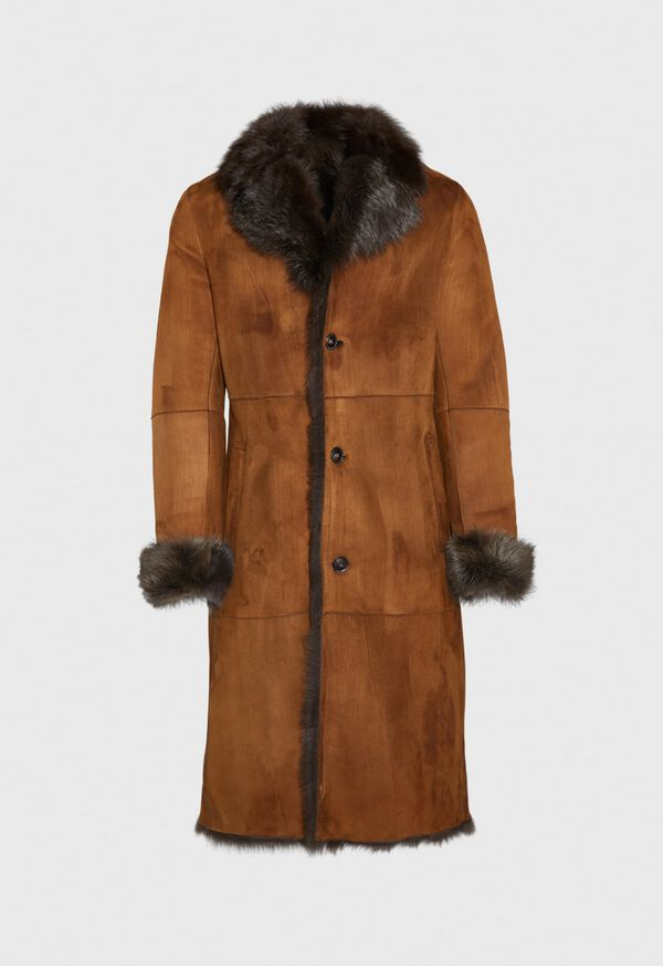 Leather Brown Long Coat