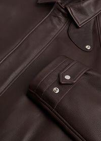 Leather Zip Up Coat, thumbnail 2