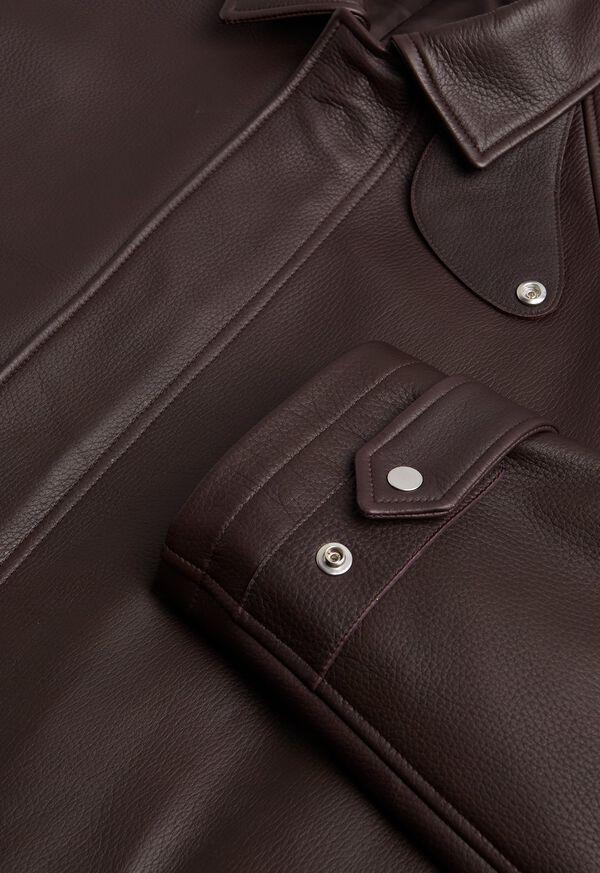 Leather Zip Up Coat, image 2