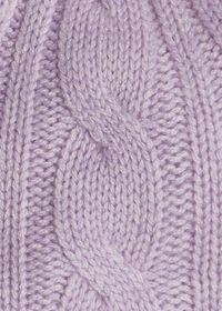 Cashmere Cable Knit Hat with Fur Pom, thumbnail 2