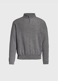 Rice Stitch Quarter Zip Sweater, thumbnail 1