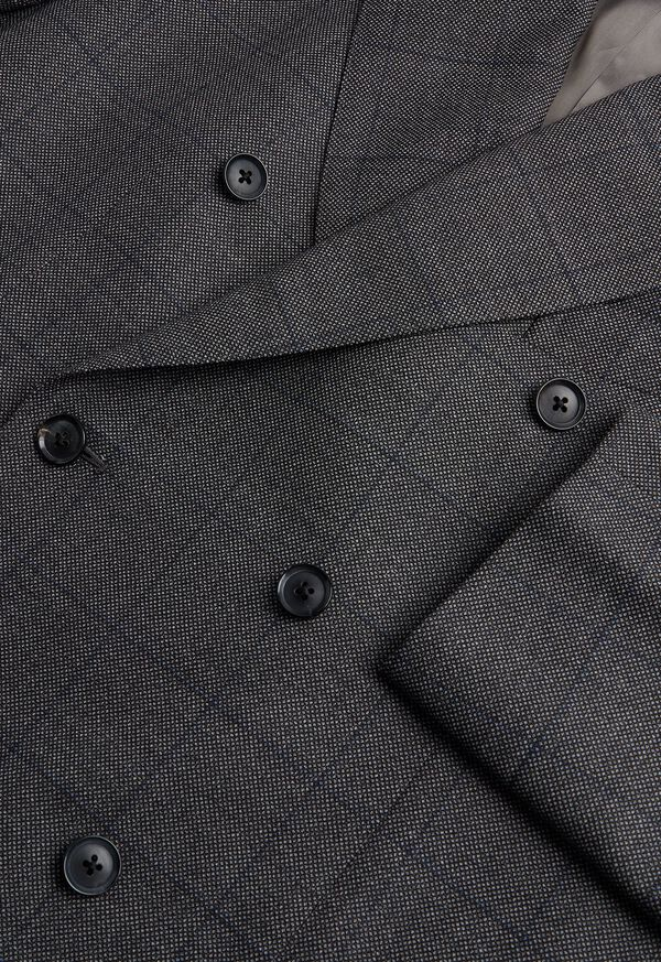 Grey Nailhead Double Breasted Suit, image 2