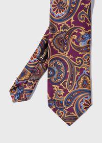 Paisley Madder Print Silk Tie, thumbnail 1