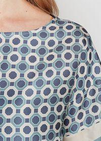 Geometrical Print Silk Blouse, thumbnail 2