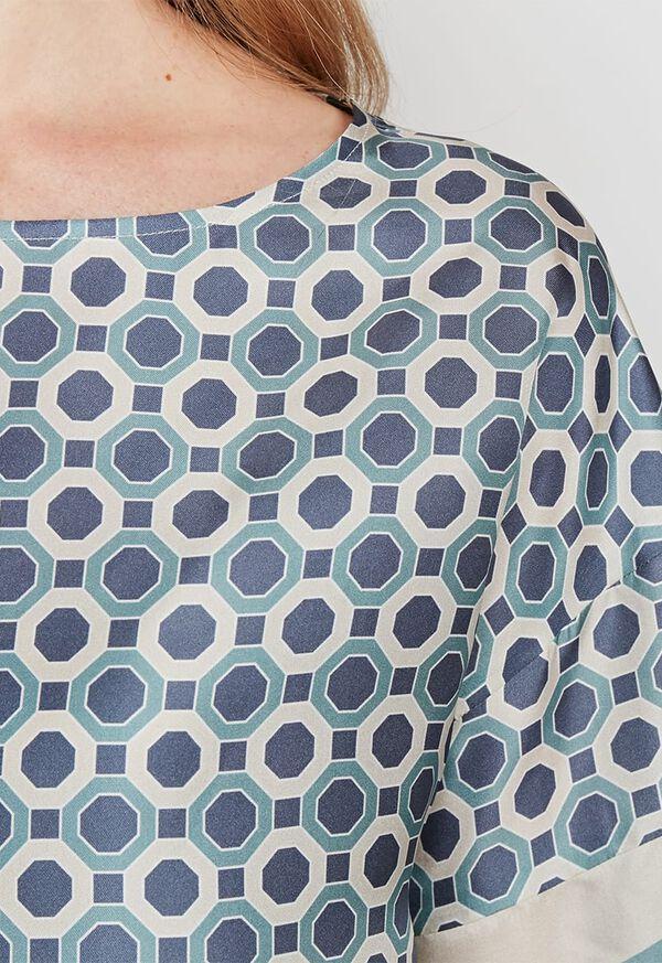Geometrical Print Silk Blouse, image 2