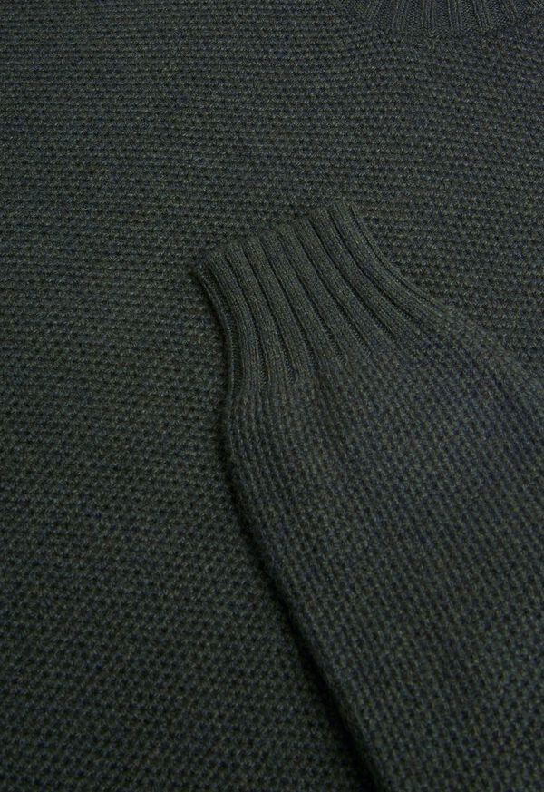 Cashmere Pique Turtleneck Sweater, image 2