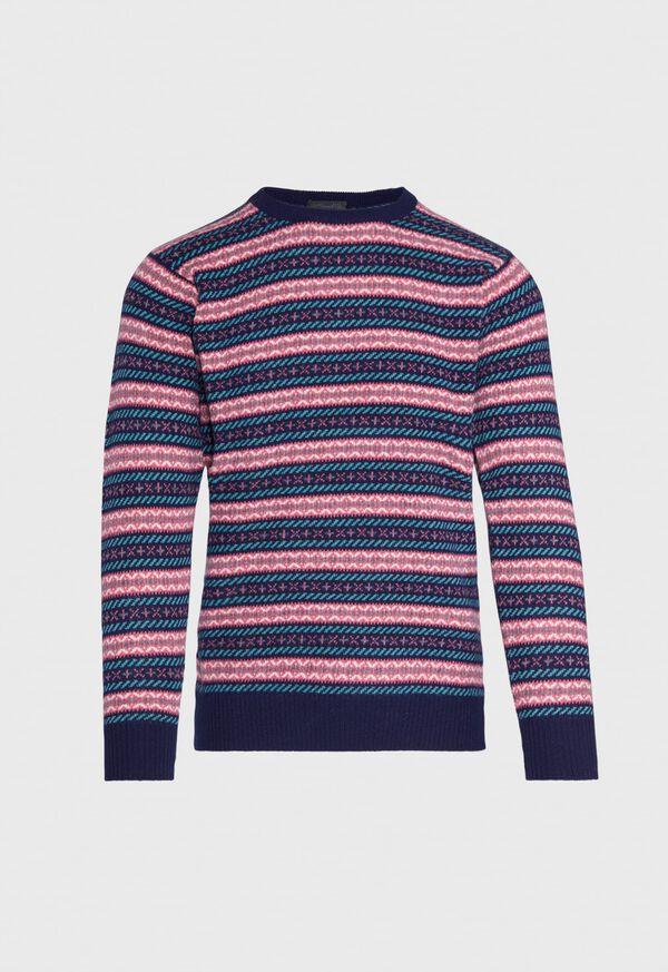 Fairisle Wool Crewneck Pullover, image 1