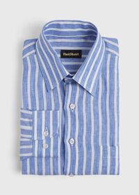 Linen Stripe Sport Shirt, thumbnail 1