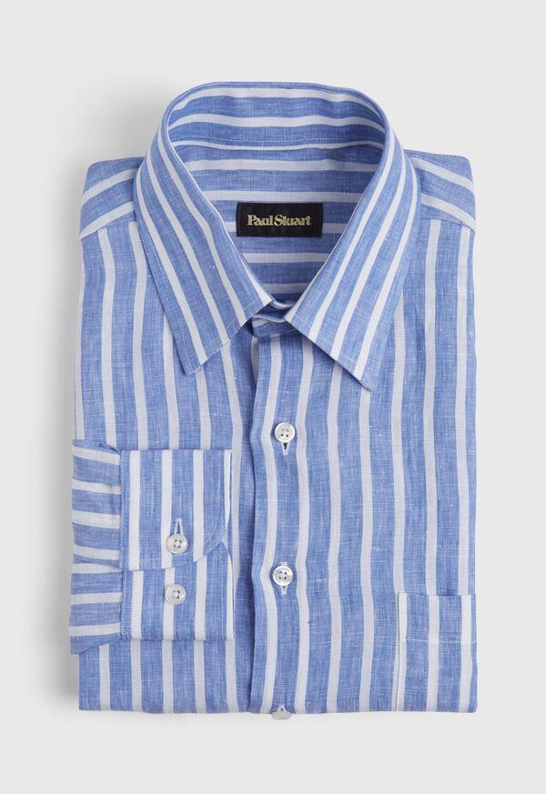 Linen Stripe Sport Shirt, image 1