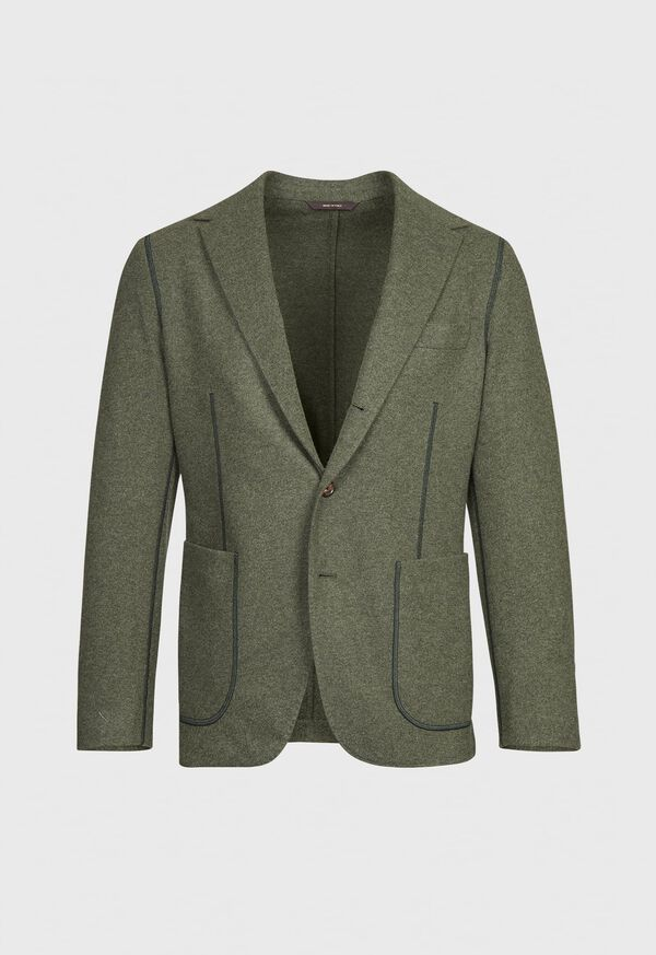Wool and Cashmere Blend Jersey Jacket