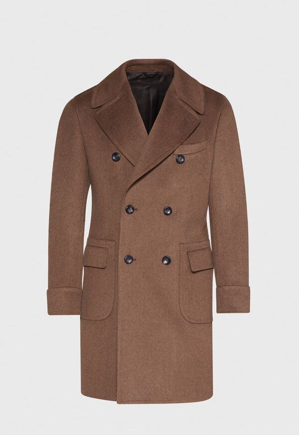 Vicuna Double Breasted Coat with Gauntlet