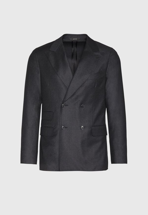 Super 150s Charcoal Double Breasted Suit, image 3