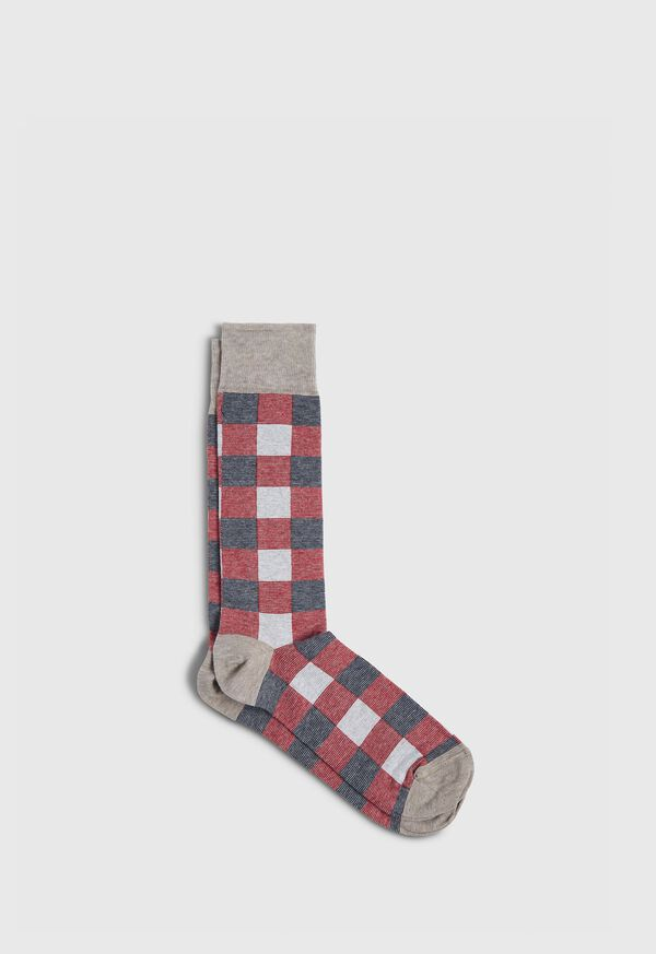 Checkerboard Crew Sock, image 1