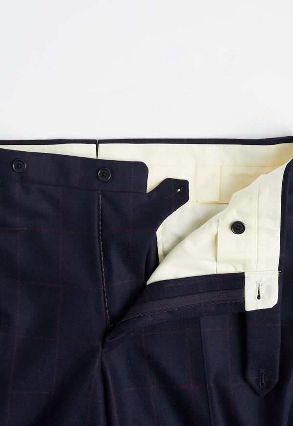 Navy and Rust Windowpane Suit, image 6