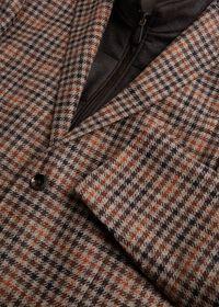 Plaid Travel Jacket with Suede Vest, thumbnail 3