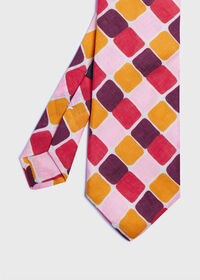 Printed Curved Squares Tie, thumbnail 1