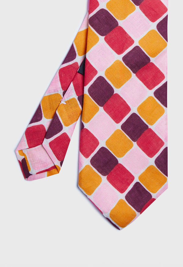 Printed Curved Squares Tie, image 1
