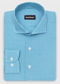 Cotton Mini Check Sport Shirt, thumbnail 1