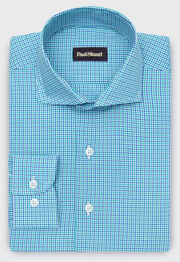 Cotton Mini Check Sport Shirt, image 1