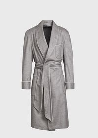 Cashmere Herringbone Robe, thumbnail 1