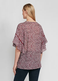 Butterfly Sleeve Floral Blouse, thumbnail 2