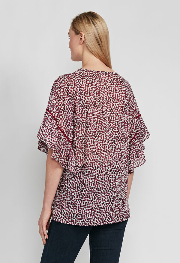 Butterfly Sleeve Floral Blouse, image 2