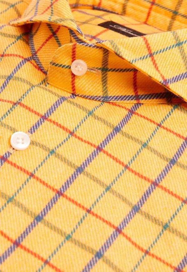 Brushed Cotton Printed Plaid Sport Shirt, image 2