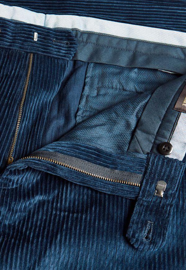 Cotton Wide Wale Plain Front Trouser, image 2