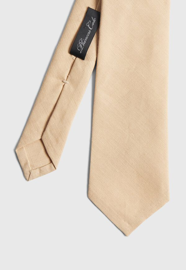 Solid Linen Tie