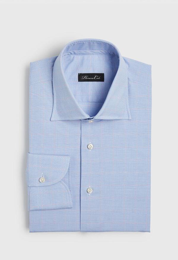 Light Blue Plaid and Pink Deco Dress Shirt, image 1
