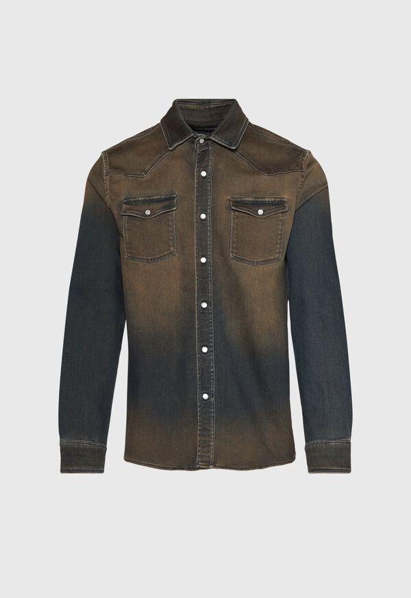 Overdyed Blue Denim Shirt, image 1