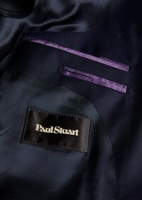 Navy Hopsack Soft Jacket, thumbnail 3