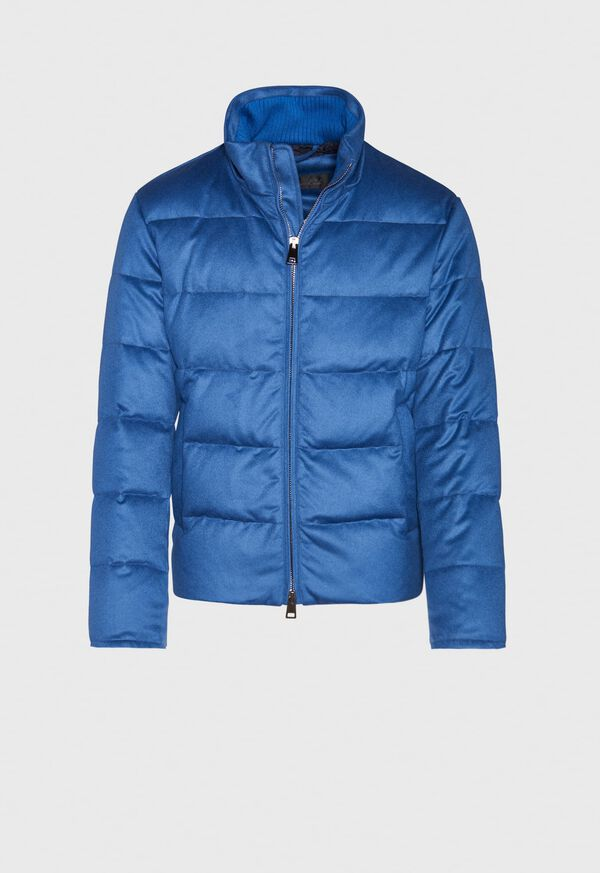 Cashmere Quilted Down Puffer Jacket, image 4