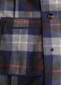 Tartan Plaid Wool Overcoat, thumbnail 3