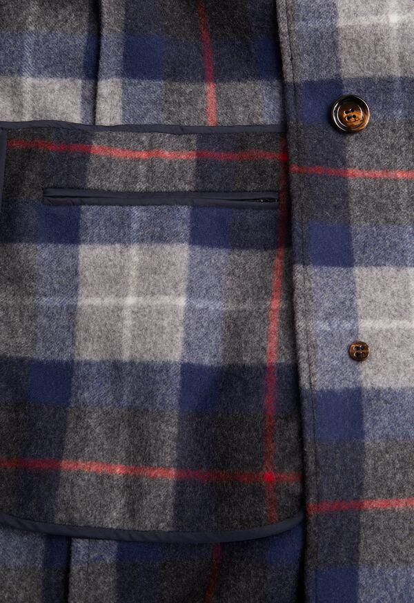 Tartan Plaid Wool Overcoat, image 3