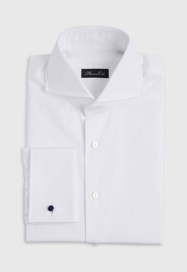 White Poplin Dress Shirt with French Cuff