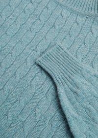 Scottish Cashmere Cable Knit Turtleneck, thumbnail 2