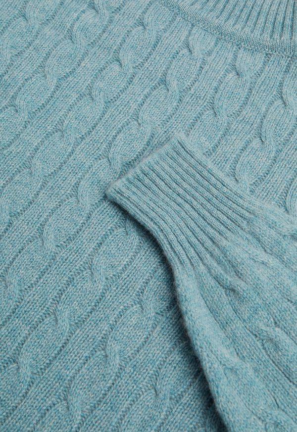 Scottish Cashmere Cable Knit Turtleneck, image 2