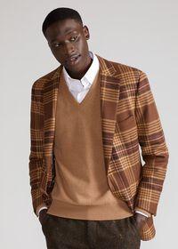 Soft Shoulder Wool Blend Plaid Sport Jacket, thumbnail 6