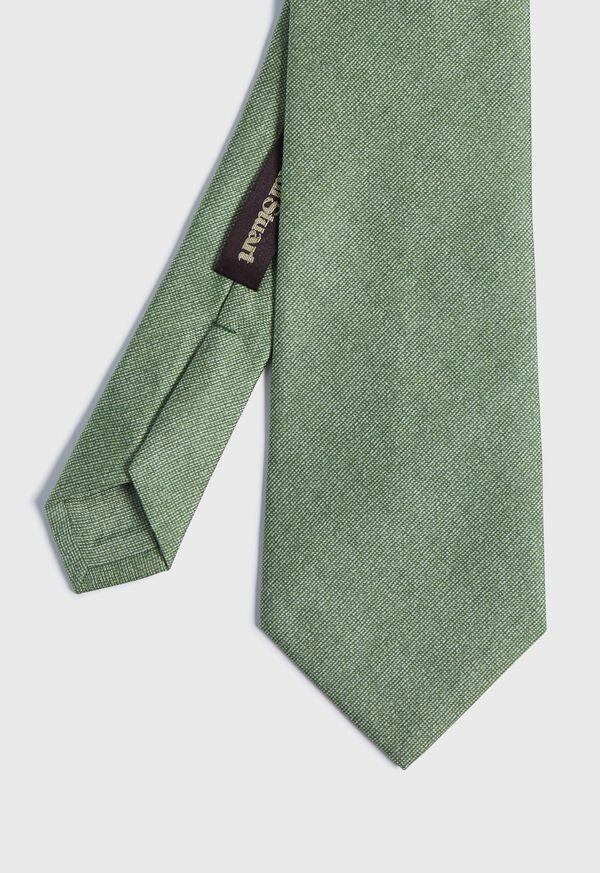 Printed Solid Silk Tie, image 1