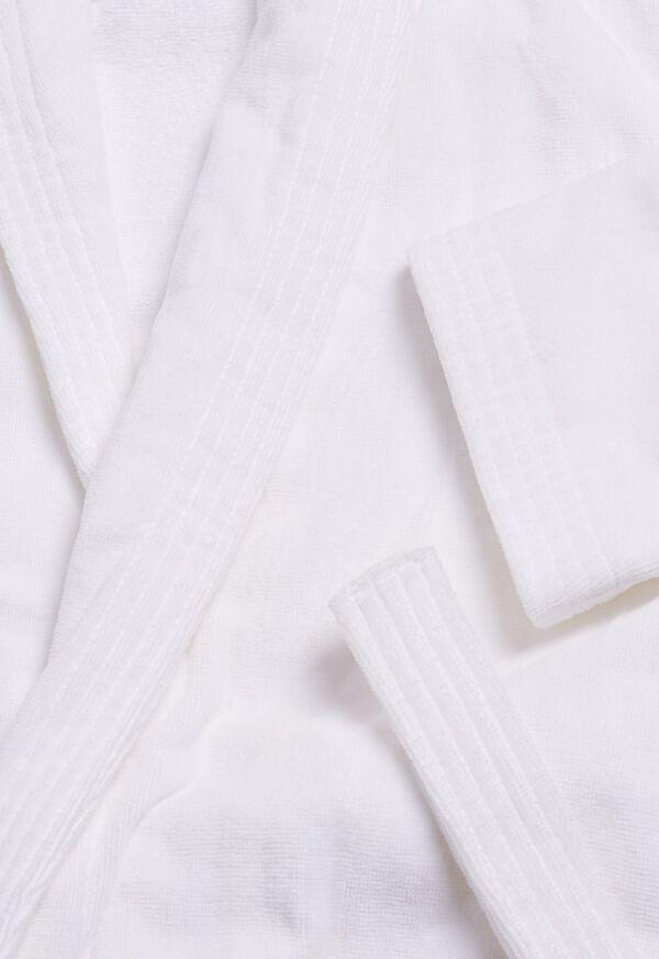 Navy Terry Cotton Velour Robe, image 2