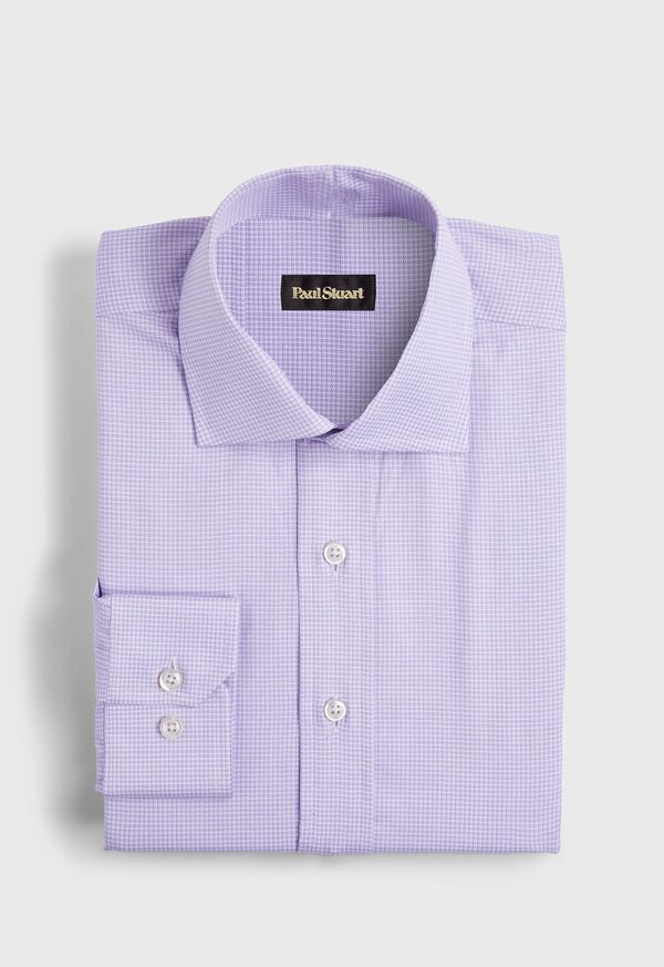 Slim Fit Micro Check Dress Shirt, image 1