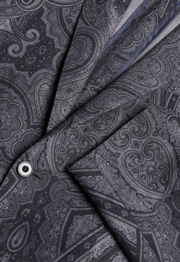 Paisley Print Wool Blazer, image 3