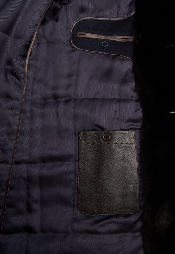 Cashmere Coat with Fur Lapel, image 3