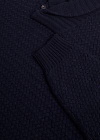 Military Shawl Collar Pullover Sweater, thumbnail 2
