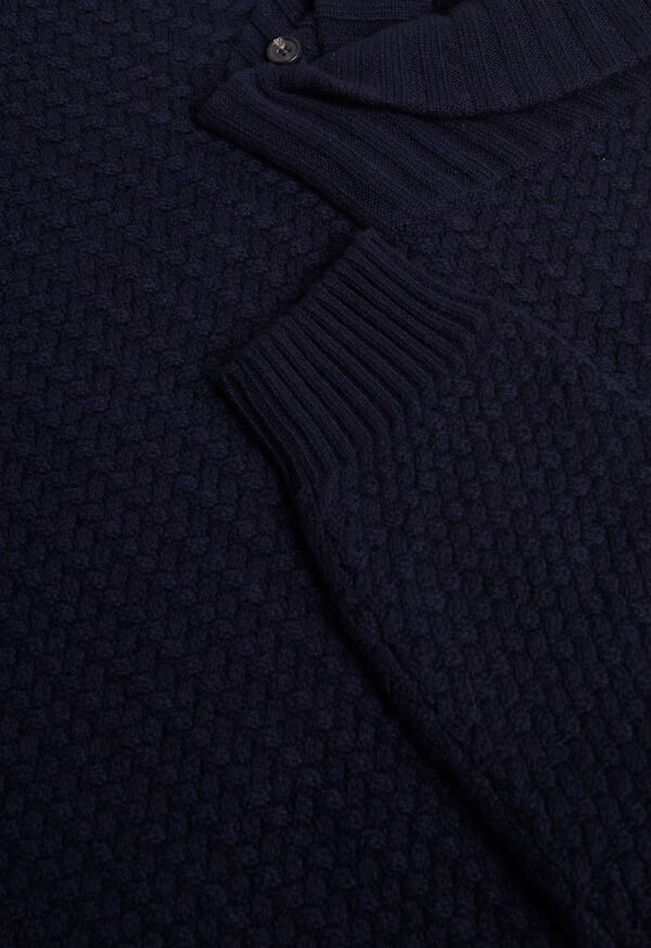 Military Shawl Collar Pullover Sweater, image 2